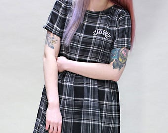 Lizzie Grey Tartan Dress