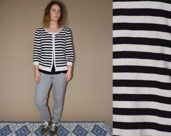 80's vintage women's striped cardigan