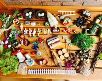 Fairy Garden, Fairy Garden Kit, Fairy Garden Grab Bag, Easter Basket Filler, Fairy Garden Accessories, Fairy Garden Party Favor,