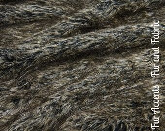 Faux Fur Gray and Tan Speckled Wolf - Fabric - Shag, Crafts, Sewing, Baby & Pet  Photo Props