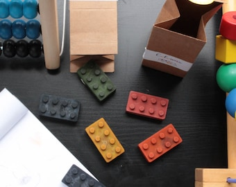 Lot de 6 Lego crayons en cire bio et vegan