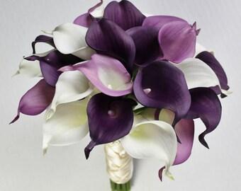 1 pc. Elegant Gumpaste  Calla Lily Cake Topper Bouquet    Simply Beautiful