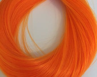 """PREORDER Tiger Lily Monofiber 18"""" Doll Hair for OOAK, Custom Monster High, My Little Pony, Blythe reroot"""