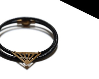Bracelet double triangle bronze.