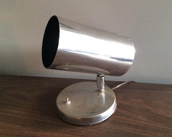 Koch And Lowy Chrome Metal Table Spot Lamp