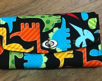 Dino-mite clutch purse