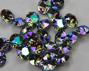 Swarovski crystal 8mm xirius chaton 1088 ss39 color paradise shine 6 pieces