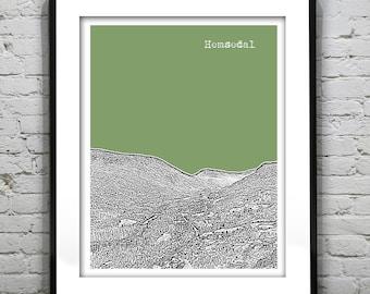 Hemsedal Norway Skyline Poster Art Print Version 1
