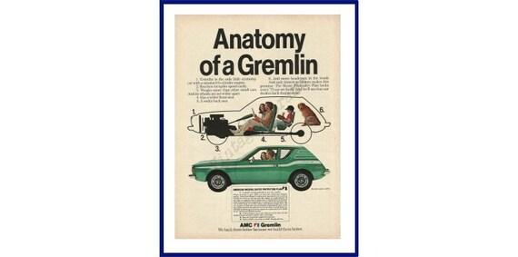 AMC GREMLIN Automobile Original 1973 Vintage Color Print Ad