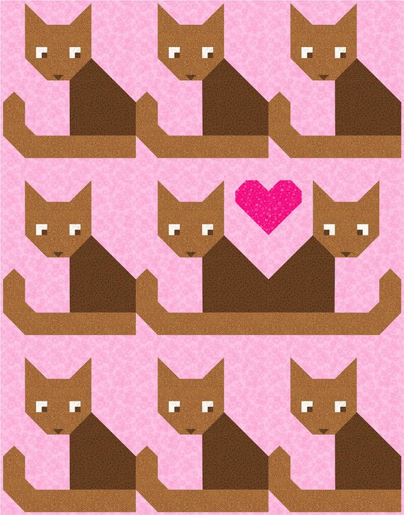 Cats Meow Quilt Pattern PDF Instant Download animal pet : cats meow quilt pattern - Adamdwight.com