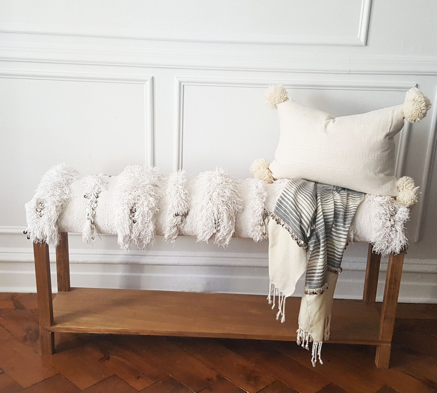 Moroccan Wedding Blanket Bench Handira Bench