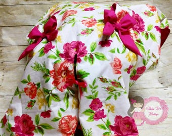 Floral car seat cover