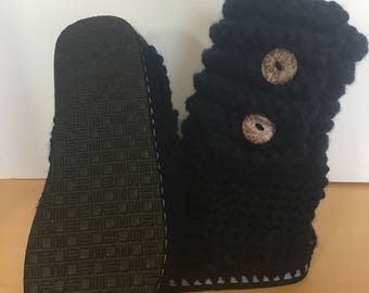 Flip Flop boots, Slippers, Crocheted slippers, crocheted boots