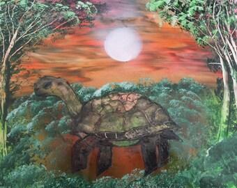 Spray Paint Art Tortoise