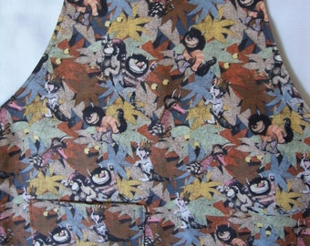 Where the Wild Things Are Children's Reversible Apron/Craft Smock