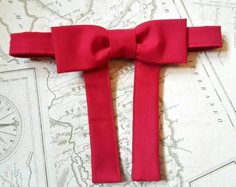 Western bow tie. Maverick bow tie. Vintage style bowtie. 50's style. String bowtie. Cotton bow tie. Mens bow tie. Red bowtie.