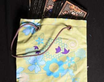 Flowery tarot card bag