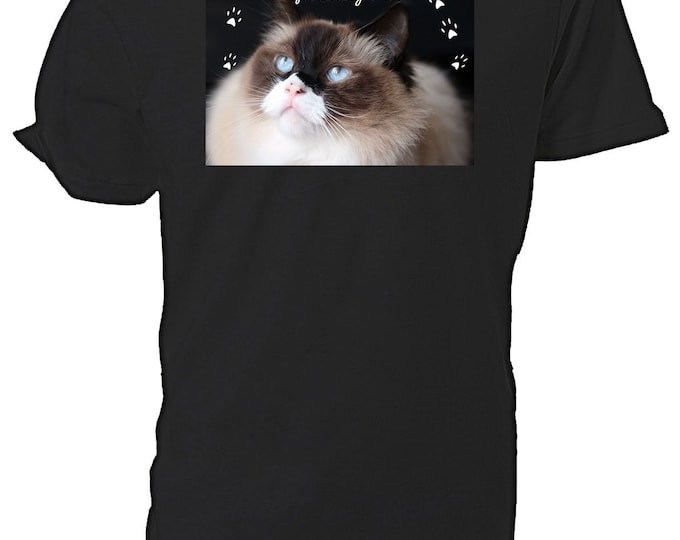 Ragdoll Cat T shirt. classic round neck short sleeved choice of sizes and colours,