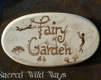 Fairy garden sign / / fairy garden sign