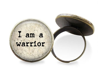 I Am A Warrior Ring