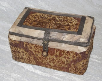 Soft Fabric Storage Box for Storing Crystals and Wands