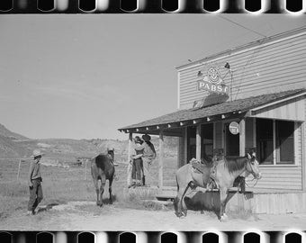 Beer parlor, Birney, Montana, 1939, MT, Old Photo Print