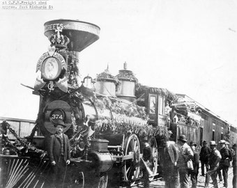 First Canadian Pacific Railway passenger train to arrive in Vancouver, 1887