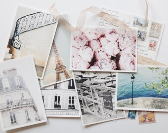 Personalized Postcard from Paris, Handwritten Postcard from Paris, Gift for Her, Gift for Traveler, Subscription Letter, Travel Postcard