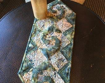 Green Batik Table Topper