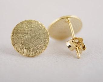 Flat Circle Stud Earrings | Minimalist Circle Earrings | Geometric Circle Earrings | Small Circle Earrings | Round stud