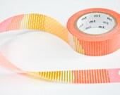 Neon Washi Tape -  Metallic Coral & Gold Tape - Orange Washi Tape in Melbourne, Australia