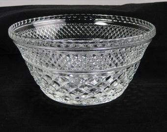 Vintage Anchor Hocking Wexford clear glass salad bowl