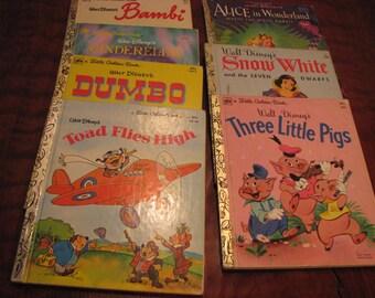 7 Vintage Children's Little Golden Books