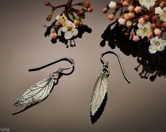 Lil May Bush silver leaf earrings