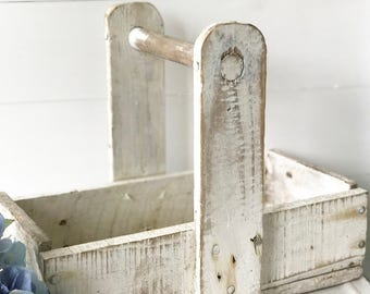 A lovely Vintage French painted wooden garden trug