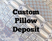 Custom Order for B.H. ~ DEPOSIT for Custom Tie Pillow Decorative Throw Pillow with Your Neckties Memory Pillow 50% DEPOSIT ONLY