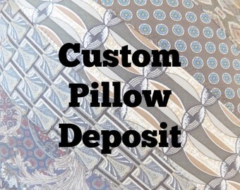 """DEPOSIT for Custom Tie Pillow 16"""" Decorative Throw Pillow with Your Neckties Memory Pillow Custom Order 50% DEPOSIT ONLY"""