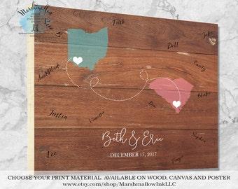 Custom Guest Book Wood Sign Guest Book Map, Wedding Guest Book Alternative Guest Book Wood, Destination Wedding Map Wedding Guest Book Ideas