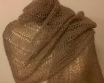 Fine knit lace shawl