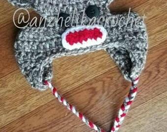 Dog Sock Monkey Hat
