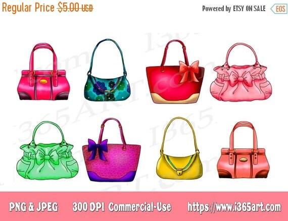 50 OFF Handbag Clipart Purse Clipart Clip art Designer Bags – Handbag Party Invitations