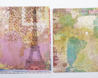 Big Happy Planner Covers From Paris with Love Planner Covers Mixed Media Covers 10 mil lamination