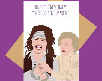 Funny wedding card - The Wedding Singer - George