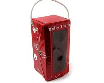 Vintage 1950s Dolly Trunk Doll Travel Case Little Miss Revlon