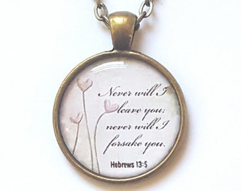 Christian Gift Christian Necklace Bible Verse Necklace Scripture Necklace Christian Gift