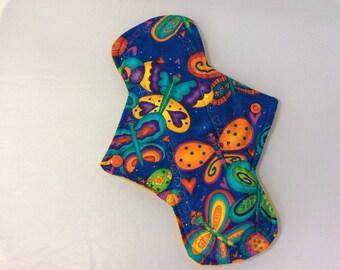 """10.25"""" Fireflies  cotton Top reusable cloth pad"""