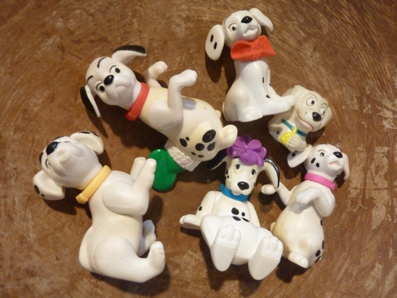 Fake Toy Dogs : Dalmation dog miniature plastic rubber dogs toy fairy garden