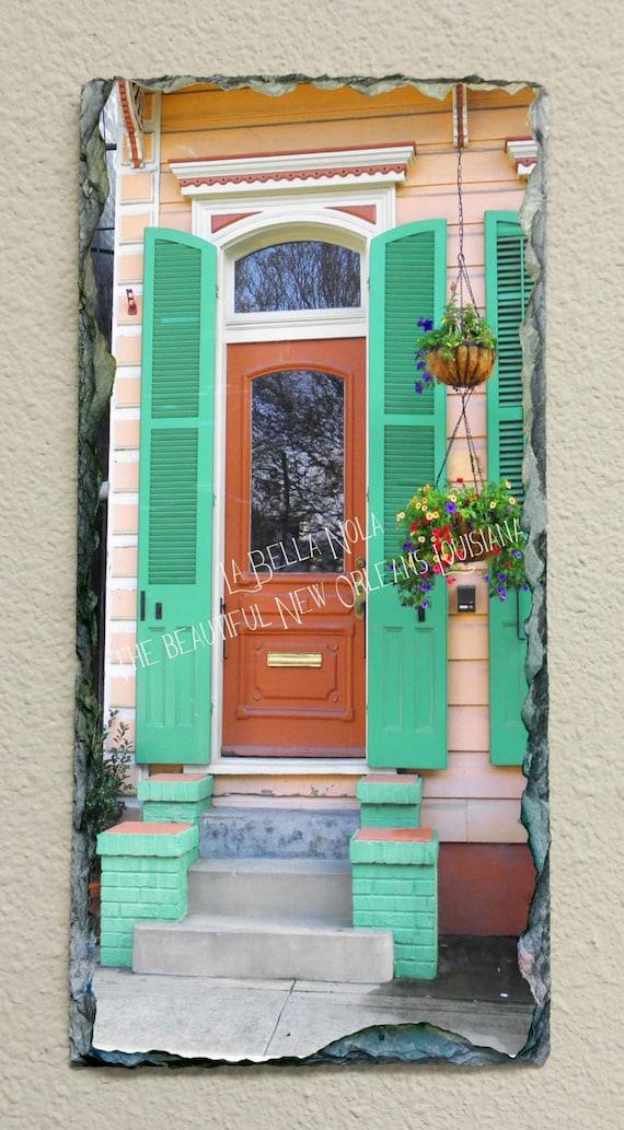 French Quarter Door 111 Slate New Orleans Art Slate
