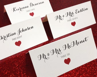 Place Cards ~ 100 ~ Printed