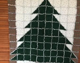 Chridtmas tree flannel rag quilt